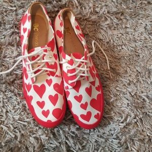 Heart loafers